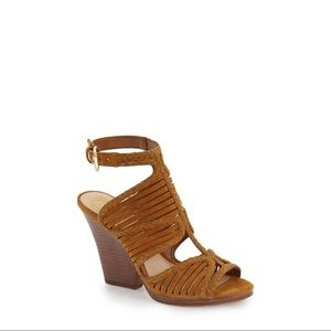 Vince Camuto Janil heeled brown suede sandal 8.5